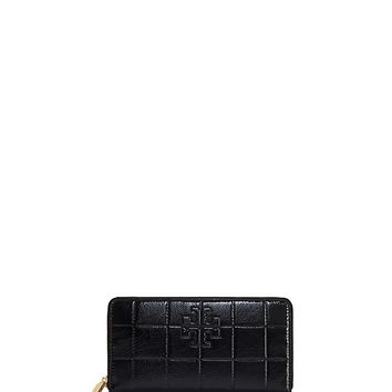 Tory Burch Marion Quilted Patent Zip Continental Wallet