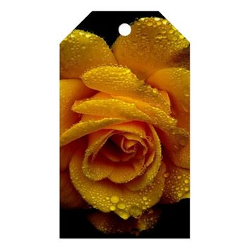 yellow megical rose gift tags
