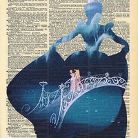 Cinderella Dictionary Art Print