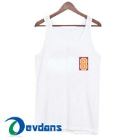 Number 8 Font Tank Top Men And Women Size S to 3XL