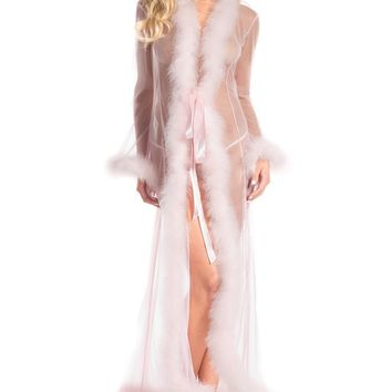Marabou Feather Candy Pink Robe
