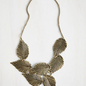 Boho Leafing Town Necklace by ModCloth