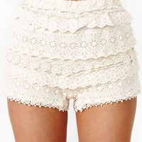 Tiered Crochet Shorts