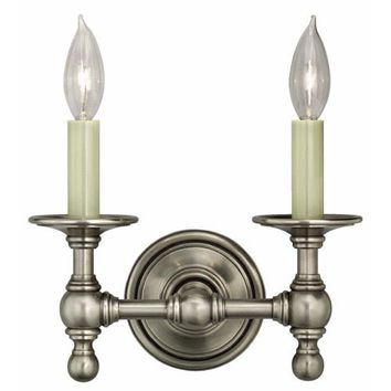 Visual Comfort and Company SL2816AN Antique Nickel Two-Light Classic Wall Sconce