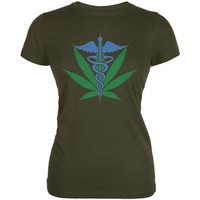 Chenier Support Medical Marijuana Legalize It Juniors Soft T Shirt