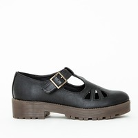 Missguided - Chunky Outsole T Bar Shoes