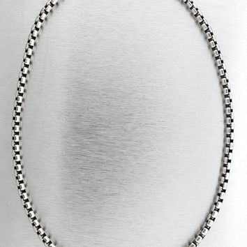 "Authentic David Yurman 925 Sterling Silver 5mm Box Chain 21.00"" Necklace"