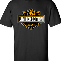60th Birthday Gift 1954 Limited Edition Classic B-day T Shirt Cool hipster swag mens womens ladies TShirt T-Shirt T Shirt Tee  - DT-602