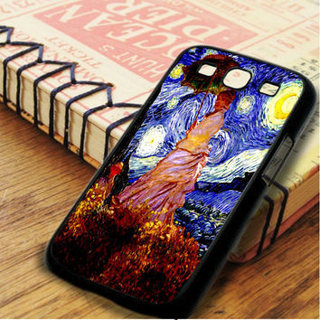 Umbrella Girl Starry Night Samsung Galaxy S3 Case