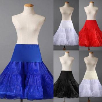 ONETOW Tutu Skirt Silps swing Rockabilly Petticoat Underskirt Crinoline fluffy pettiskirt for Wedding Bridal Retro Vintage Women Gown