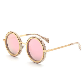 Fashion High Quality Avant-garde Men Round Polarized Lady Sunglasses Retro Alloy Frame Women Sun glasses Oculos De Sol Feminino