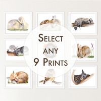 Custom Nursery Print Set Of 9