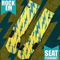 KD VI Seat Pleasant Custom Nike Elite Socks | Rock 'Em Apparel