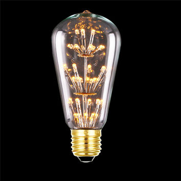 E27 220V 3W Led Light Bulb Squirrel Cage Vintage Glass Edison Style Led Bulb Led Filament Lamp Warm White For Home Decoration