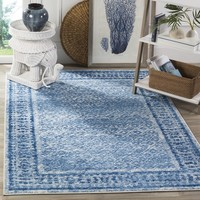 Safavieh Adirondack Vintage Silver/ Blue Rug (5'1 x 7'6) | Overstock.com Shopping - The Best Deals on 5x8 - 6x9 Rugs