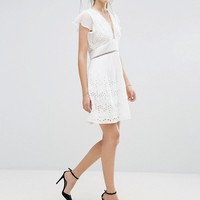 French Connection Hesse Broderie Dress at asos.com