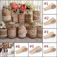 1Pc 2M Wedding Lace Burlap Garland Hessian Ribbon Christmas Gifts Bottle Roll Rustic Decor [7983401735]