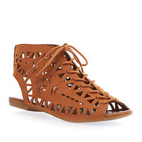 Punchout Lace-Up Flat Sandal - Rainbow