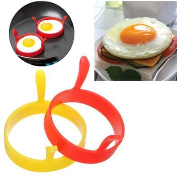 Silicone Round Egg Rings Pancake Mold Ring W Handles Nonstick Fried Frying Jul26 Professional Factory price Drop Shipping