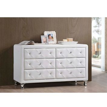 Baxton Studio Luminescence Wood Contemporary Upholstered Dresser | Overstock.com Shopping - The Best Deals on Dressers