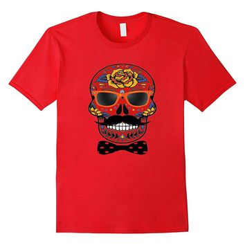 Funny Halloween Skull T Shirt - Day Of The Dead Tee