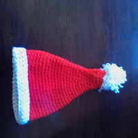 Crochet santa hat,photo prop,christmas,winter present