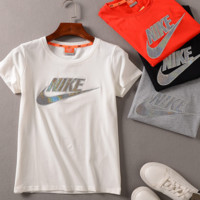 NIKE letters print  loose T-shirt short sleeve top tee blouse
