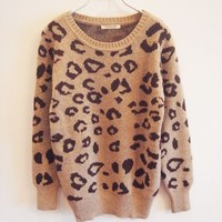 Leopard Print Knitted Sweater 71