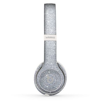 The Silver Sparkly Glitter Ultra Metallic Skin Set for the Beats by Dre Solo 2 Wireless Headphones
