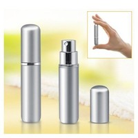SODIAL- 5ml Silver Travel Perfume Aftershave Atomizer Atomiser Spray Bottle
