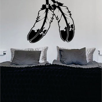 Indian Feathers Native American Big Design Decal Sticker Wall Vinyl Decor Art