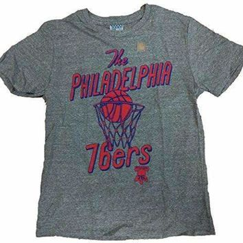 Junk Food Mens The Philadelphia 76ers Tri Blend Tee Shirt