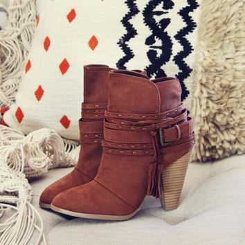 The Goldie Booties in Cognac