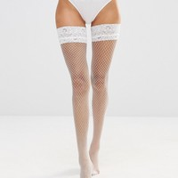 Ann Summers Lace Top Fishnet Hold Ups
