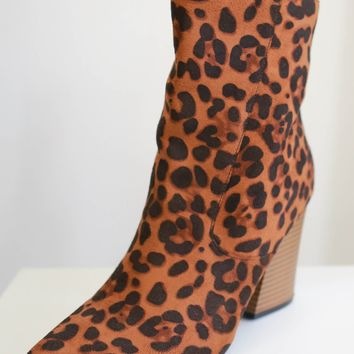 Mercedes Booties - Leopard