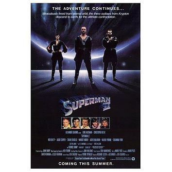 Superman II Poster//Superman II  Movie Poster//Movie Poster//Poster Reprint
