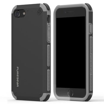 PURE GEAR - IPHONE 7 8 DUAL TEK CASE - BLACK AND GREY
