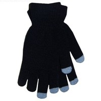 Boss Tech Products Knit Touchscreen Gloves with Conductive Fingertips for Use with All Touchscreen Electronic Devices - Black
