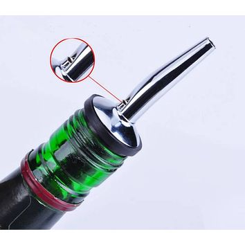 New 1 Pcs Stainless Steel Bottle Caps Liquor Spirit Pourer Dispenser Free Flow Wine Bottle Pour Spout Stopper Barware