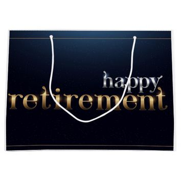 Happy Retirement Large Gift Bag