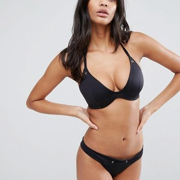 ASOS FULLER BUST Mix and Match Hidden Underwire Bikini Top with Eyelets at asos.com