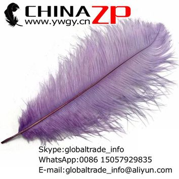 CHINAZP Factory 40~45cm(16~18inch) Length 100pcs/lot Good Quality Party Centerpiece Dyed Lavender Ostrich Feathers