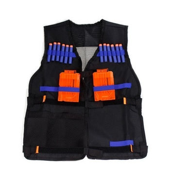 Nerf N-Strike Elite Adjustable Tactical Vest Kit with Storage Pockets New ( Darts and Clips are not included ) [8833439948]