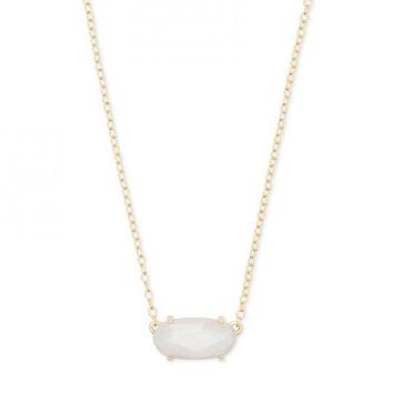 The Everly Gold Pendant Necklace In Ivory Pearl by Kendra Scott