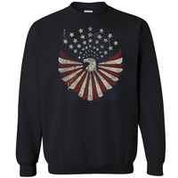 American Eagle Star Unisex Crewneck 4th of July Usa Patriotic Sweatshirt