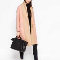 ASOS Coat with Panelled Front