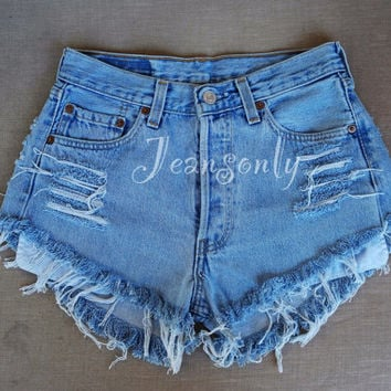 High waisted shorts team USA American US flag clothing Red white Blue Stars and Stripes 4th Fourth of July outfit Levi denim