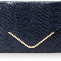 BCBGeneration Kai The Higher Maintenance Clutch,Navy,One Size