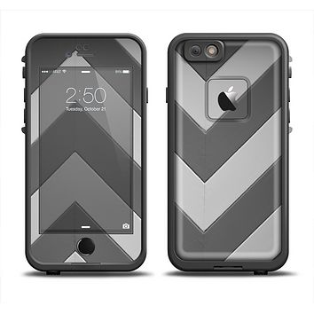 The Dark Gray Wide Chevron Apple iPhone 6/6s Plus LifeProof Fre Case Skin Set