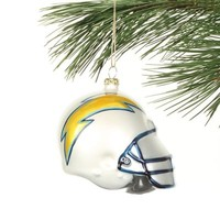 San Diego Chargers 3'' Blown Glass Helmet Ornament